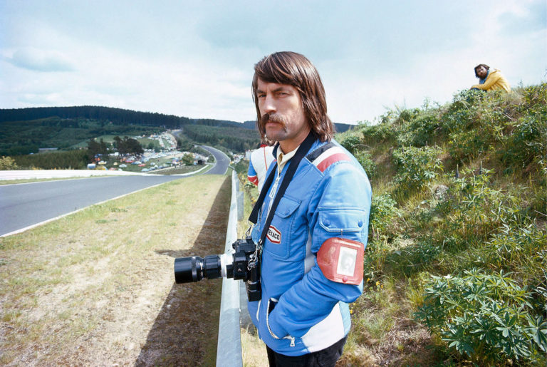 "Rainer W. Schlegelmilch at ""Flugplatz"", Nurburgring, German Grand Prix, 1971"